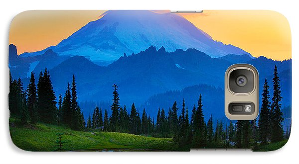 Mount Rushmore Galaxy S7 Case - Mount Rainier Goodnight by Inge Johnsson