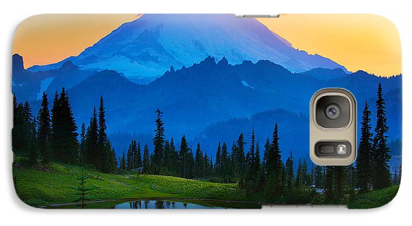 Mount Rainier Goodnight Galaxy Case by Inge Johnsson