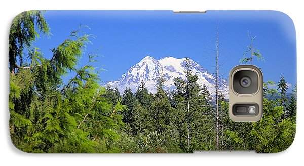 Galaxy Case featuring the photograph Mount Rainier by Gordon Elwell