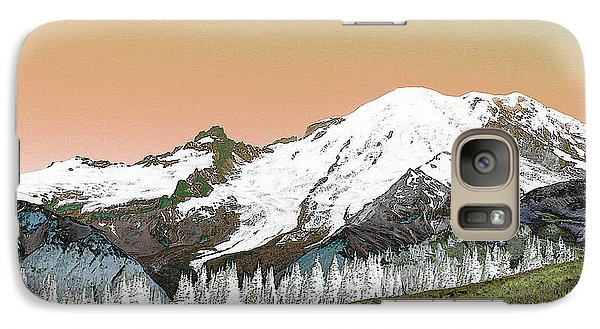 Galaxy Case featuring the photograph Mount Rainier National Park II by Ann Johndro-Collins