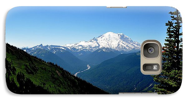 Galaxy Case featuring the photograph Mount Rainier Seen From Crystal Mountain Summit  4 by Tanya  Searcy
