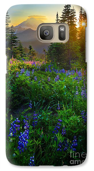 Mount Rushmore Galaxy S7 Case - Mount Rainier Sunburst by Inge Johnsson