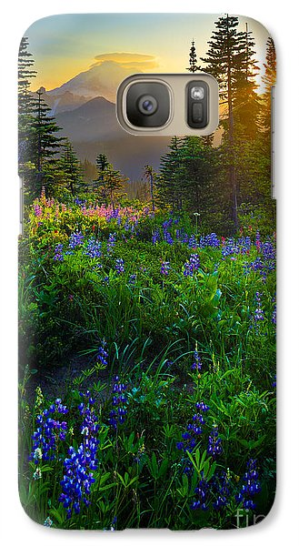 Mountain Galaxy S7 Case - Mount Rainier Sunburst by Inge Johnsson