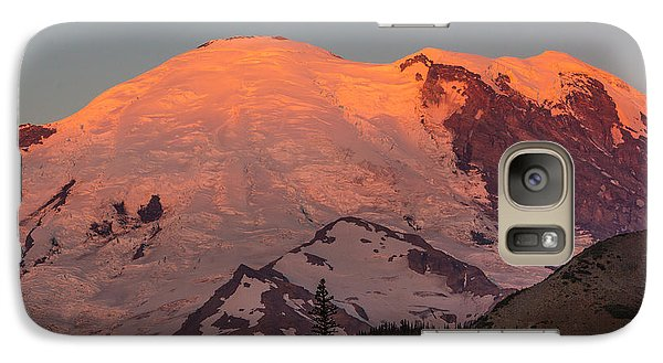 Galaxy Case featuring the photograph Mount Rainier Sunrise by Bob Noble Photography