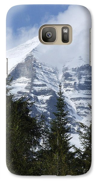 Galaxy Case featuring the photograph Mount Robson - Spindrift by Phil Banks