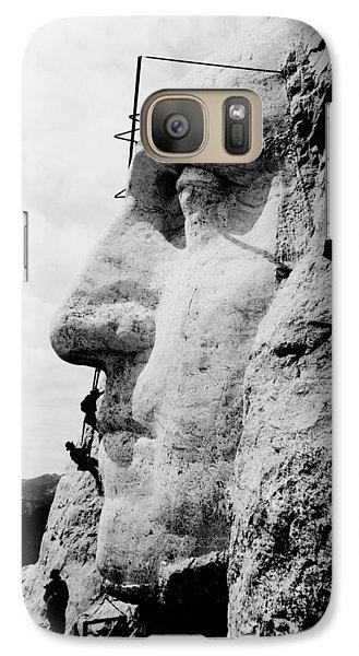 Mount Rushmore Construction Photo Galaxy S7 Case
