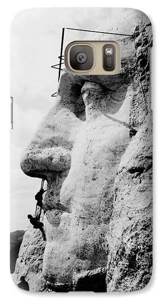 Mount Rushmore Construction Photo Galaxy S7 Case by War Is Hell Store