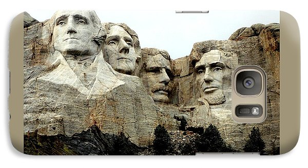 Galaxy Case featuring the photograph Mount Rushmore Presidents by Clarice  Lakota