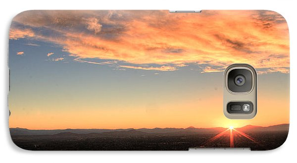 Galaxy Case featuring the photograph Mount Soledad Panoramic Sunrise by Jeremy McKay