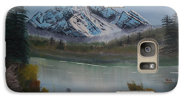 Galaxy Case featuring the painting Mountain And River by Ian Donley