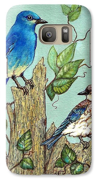 Galaxy Case featuring the painting Mountain Bluebirds by VLee Watson