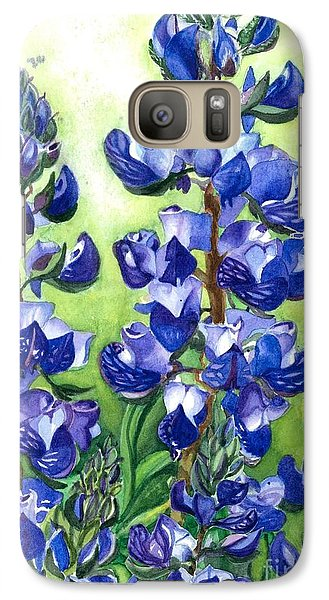 Galaxy Case featuring the painting Mountain Blues Lupine Study by Barbara Jewell