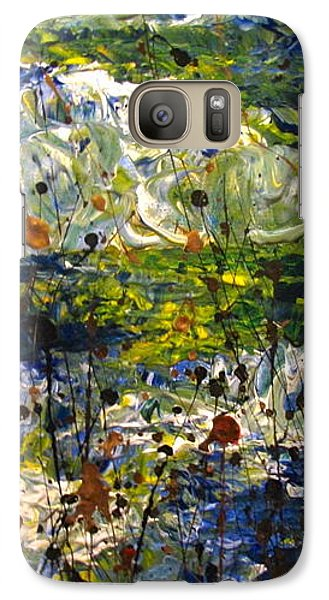 Galaxy Case featuring the painting Mountain Creek by Jacqueline Athmann