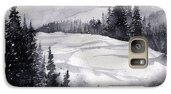 Galaxy Case featuring the painting Mountain Drift by Tim Oliver