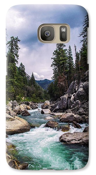 Galaxy Case featuring the photograph Mountain Emerald River Photography Print by Jerry Cowart