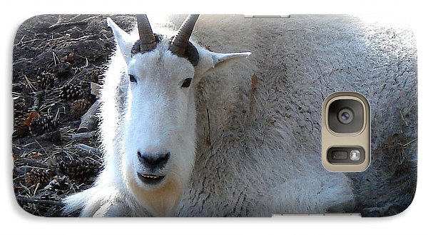 Galaxy Case featuring the photograph Mountain Goat by Linda Cox