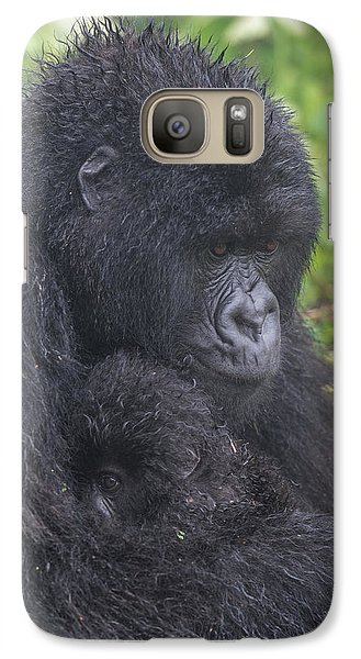 Gorilla Galaxy S7 Case - Mountain Gorilla, Gorilla Beringei by Tom Murphy