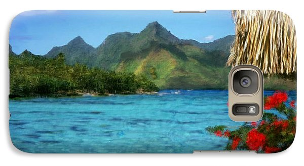 Galaxy Case featuring the painting Mountain Lake by Bruce Nutting