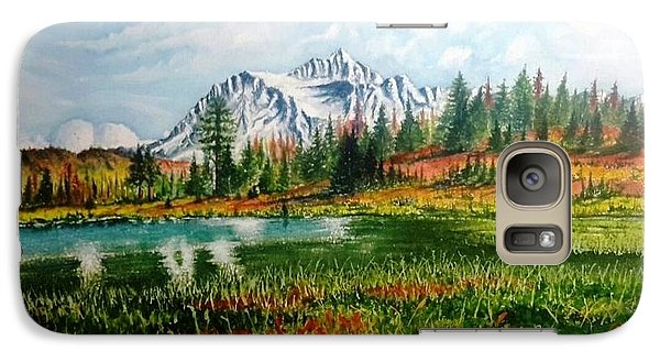 Galaxy Case featuring the painting Mountain Lake by Richard Benson
