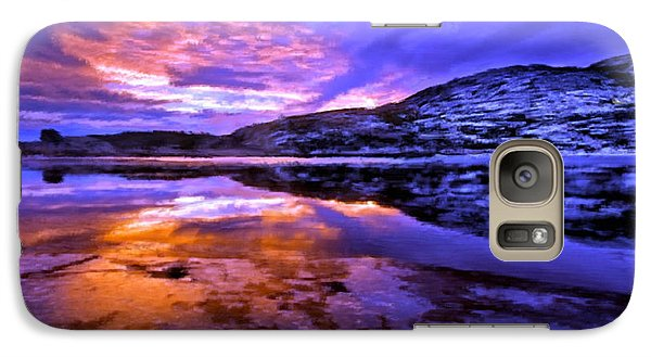 Galaxy Case featuring the painting Mountain Lake Sunset by Bruce Nutting
