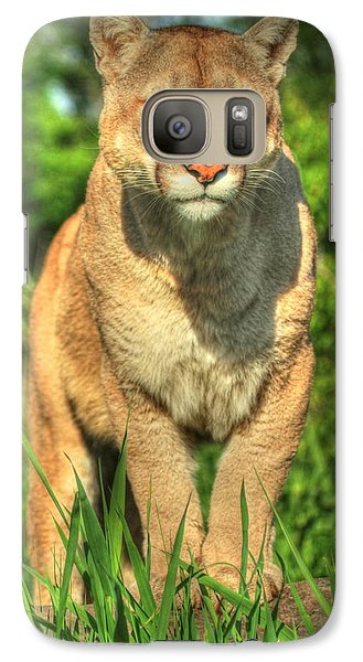 Galaxy Case featuring the photograph Mountain Lion On Watch by Myrna Bradshaw