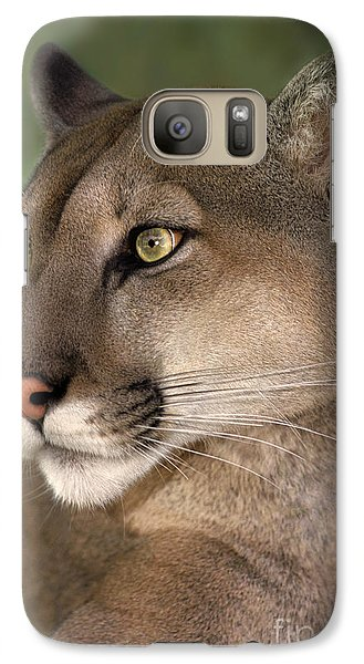 Galaxy Case featuring the photograph Mountain Lion Portrait Wildlife Rescue by Dave Welling