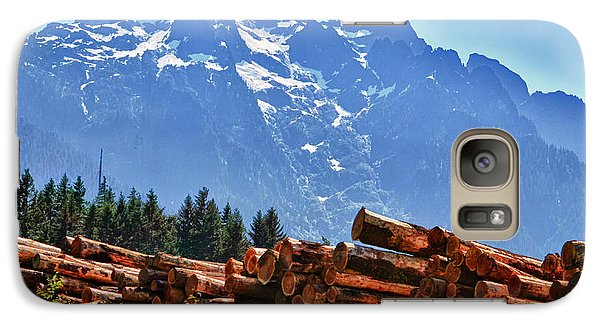 Galaxy Case featuring the photograph Mountain Logging by Kelly Reber