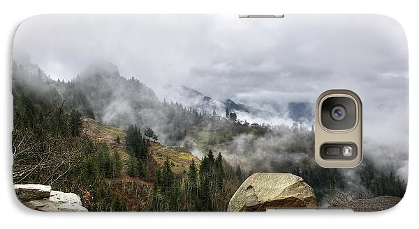 Galaxy Case featuring the photograph Mountain Pass by Gouzel -