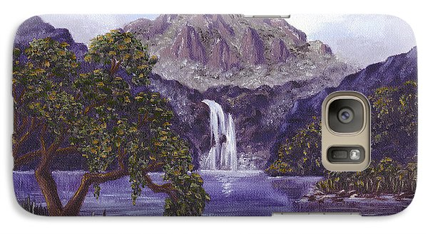 Galaxy Case featuring the painting Mountain Peak by Val Miller