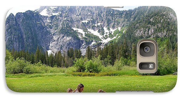Galaxy Case featuring the photograph Mountain Picnic by Kelly Reber