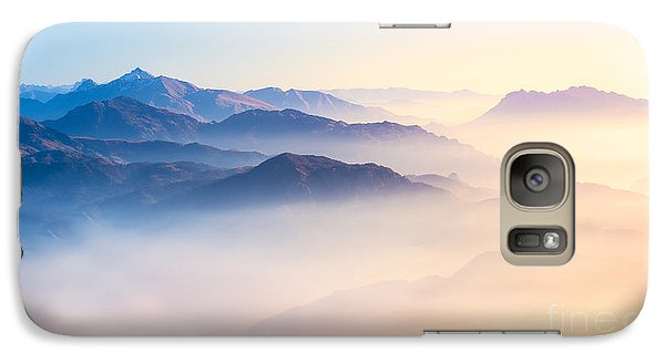 Magician Galaxy S7 Case - Mountain Range With Visible Silhouettes by Easy Camera