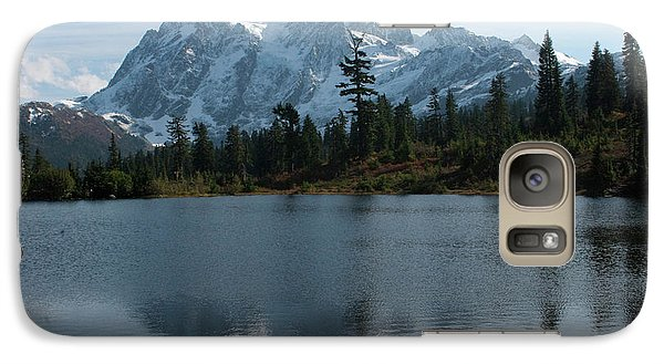 Galaxy Case featuring the photograph Mountain Reflection by Rod Wiens
