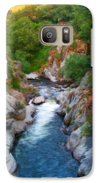 Galaxy Case featuring the painting Mountain Stream by Bruce Nutting