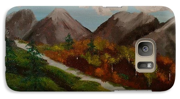 Galaxy Case featuring the painting Mountain Stream by Denise Tomasura