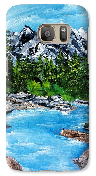 Galaxy Case featuring the painting Mountain Stream  by Ellen Canfield