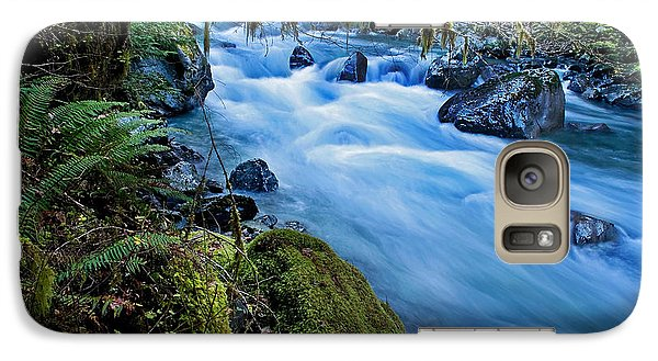 Galaxy Case featuring the photograph Mountain Stream In Forest - Nooksack River Washington by Valerie Garner