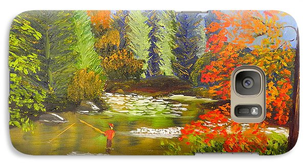 Galaxy Case featuring the painting Mountain Stream by Pamela  Meredith
