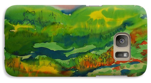 Galaxy Case featuring the painting Mountain Streams by Susan D Moody