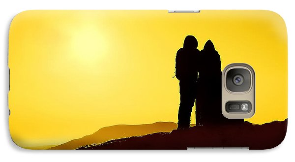 Galaxy Case featuring the photograph Mountain Top Sunset by Craig B