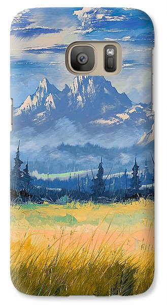 Galaxy Case featuring the painting Mountain Valley by Richard Faulkner