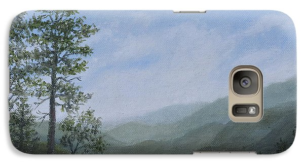 Galaxy Case featuring the painting Mountain Vista 1 By K. Mcdermott by Kathleen McDermott