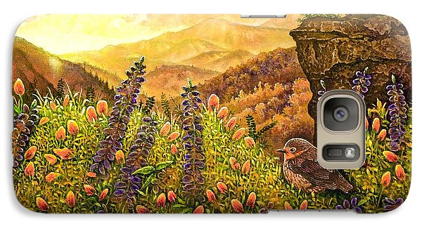 Galaxy Case featuring the painting Mountain Wildflowers by Michael Frank