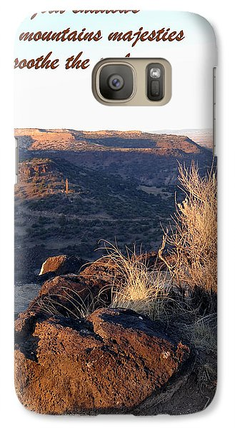 Galaxy Case featuring the photograph Mountains Majesties by Tom DiFrancesca