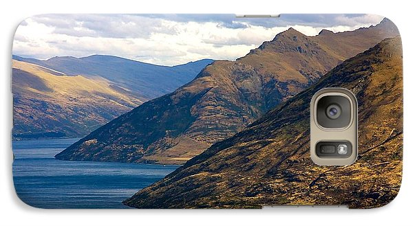 Galaxy Case featuring the photograph Mountains Meet Lake by Stuart Litoff