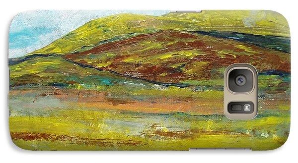 Galaxy Case featuring the painting Mountains  by Reina Resto