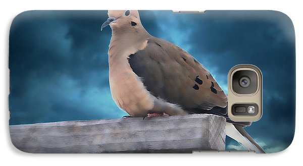 Galaxy Case featuring the photograph Mourning Dove Blue Sky by Marjorie Imbeau