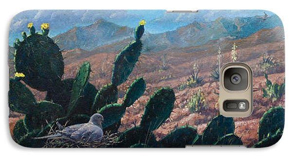 Galaxy Case featuring the painting Mourning Dove Desert Sands by Rob Corsetti