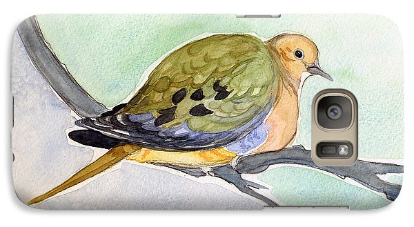 Galaxy Case featuring the painting Mourning Dove by Katherine Miller