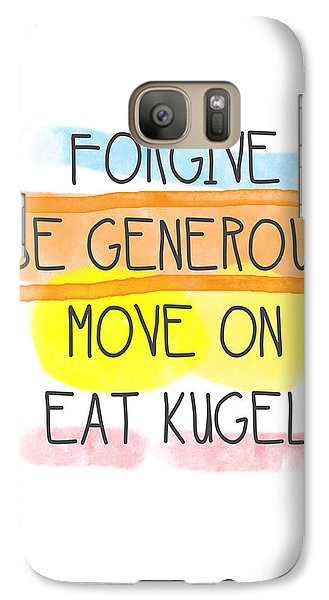 Move On And Eat Kugel Galaxy Case by Linda Woods