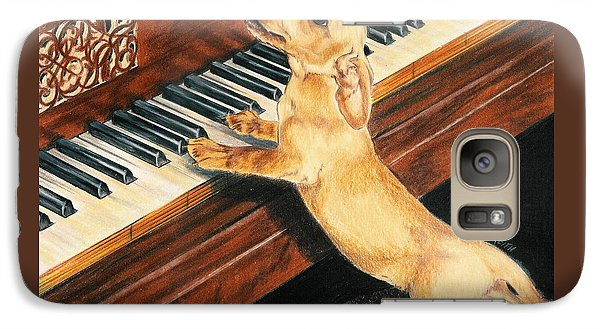Galaxy Case featuring the drawing Mozart's Apprentice by Barbara Keith